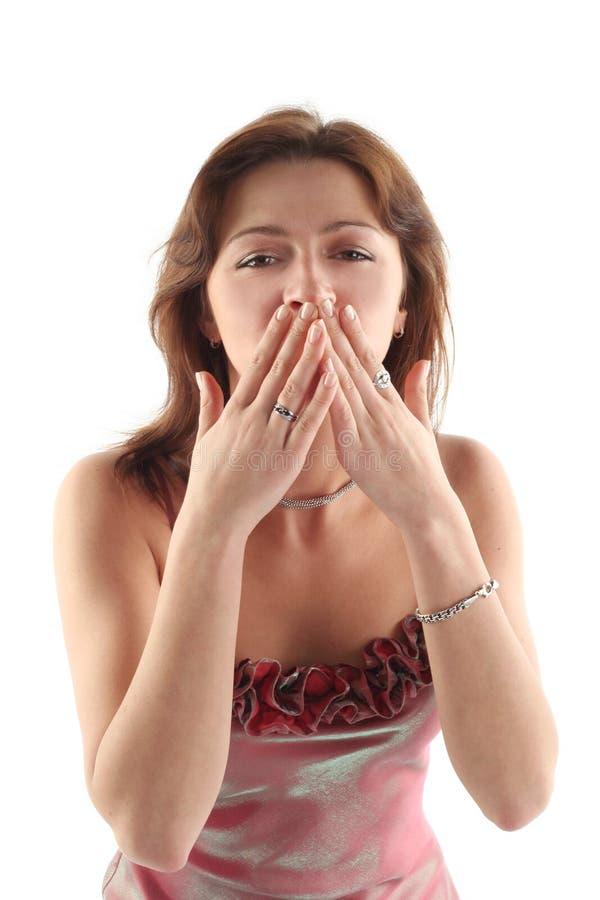 La muchacha envía un beso fotografía de archivo libre de regalías