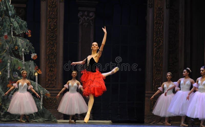 La muchacha española del estilo el segundo reino del caramelo del campo del acto segundo - el cascanueces del ballet imagenes de archivo