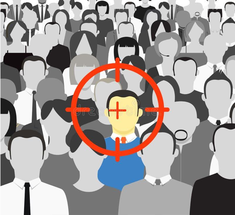 La muchedumbre de gente stock de ilustración