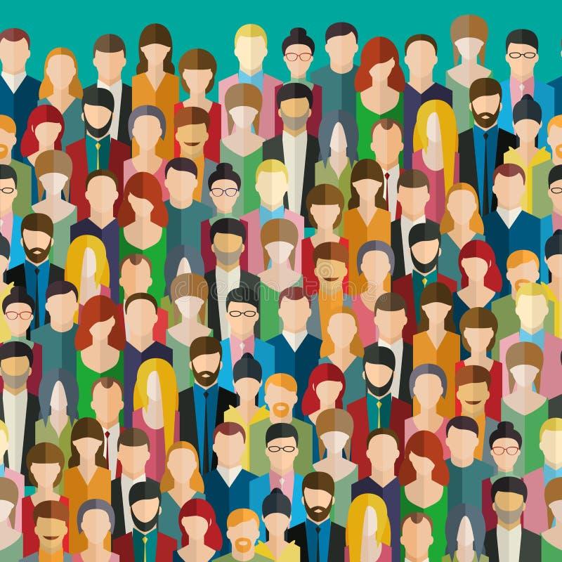 La muchedumbre de gente abstracta libre illustration