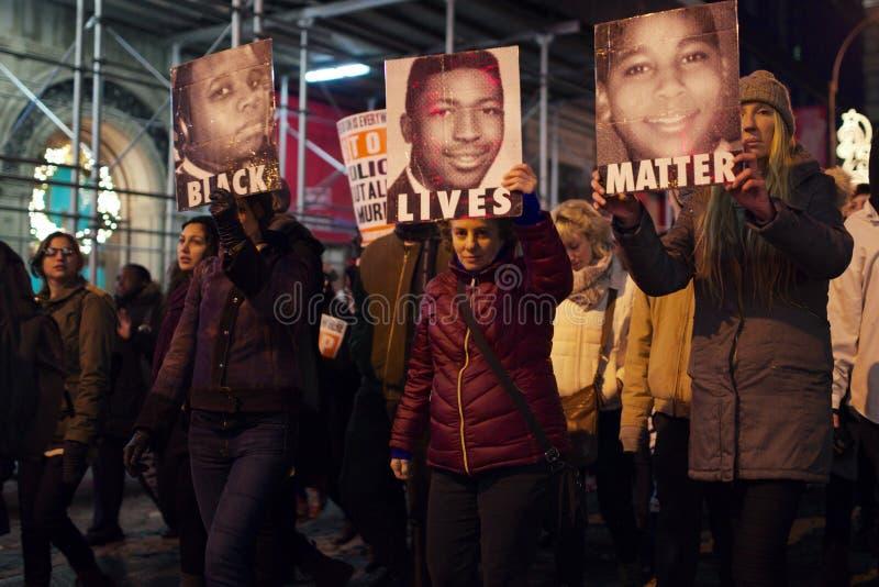 La muerte de Eric Garner de la protesta de las mujeres foto de archivo libre de regalías