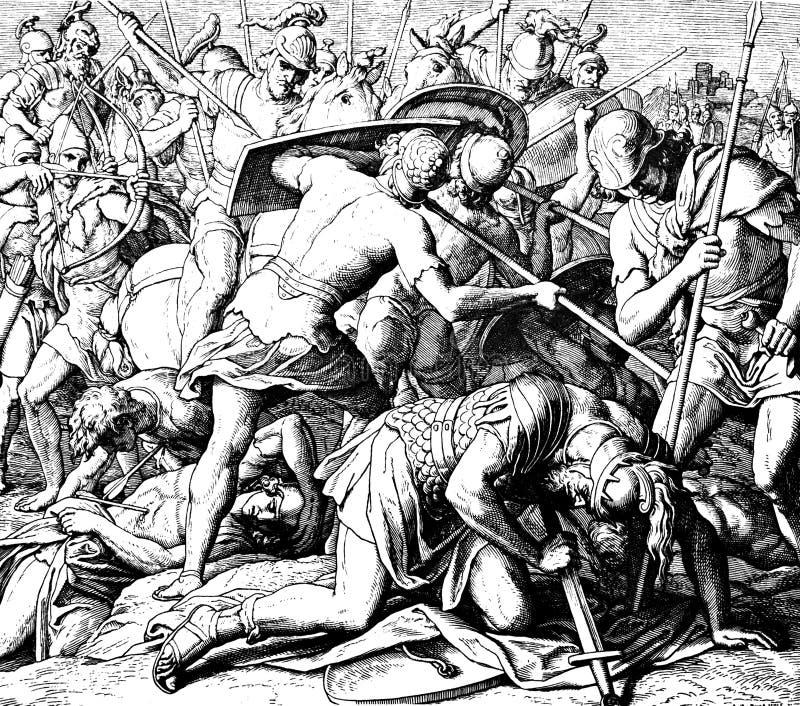 La muerte de Saul foto de archivo