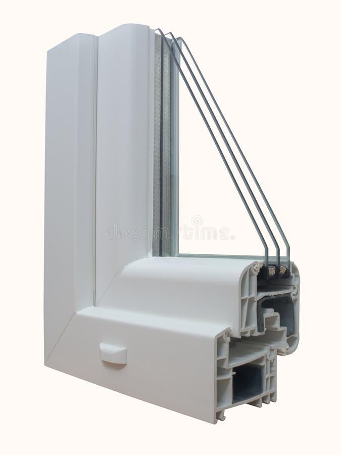 La muestra 1 de PVC de la ventana imagenes de archivo