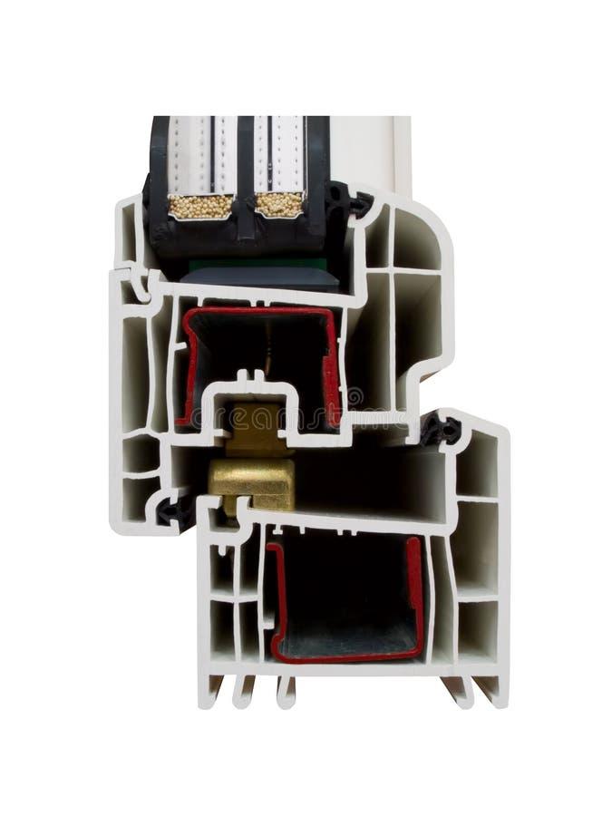 La muestra 2 de PVC de la ventana fotos de archivo