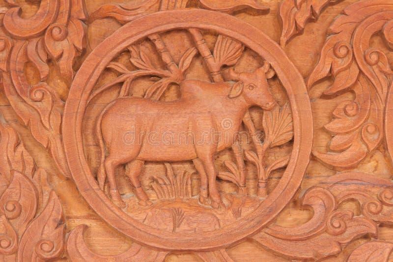La muestra china del animal del zodiaco del buey foto de archivo
