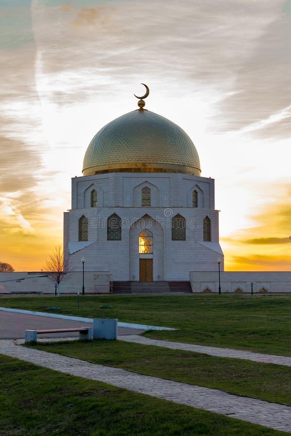 La muestra conmemorativa la adopción del Islam en la ciudad antigua Bolgar o el búlgaro imagen de archivo