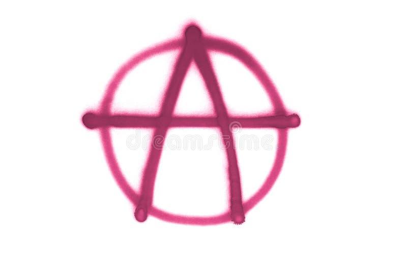 La muestra de la anarqu?a de la pintada roci? en el fondo aislado blanco imagen de archivo libre de regalías