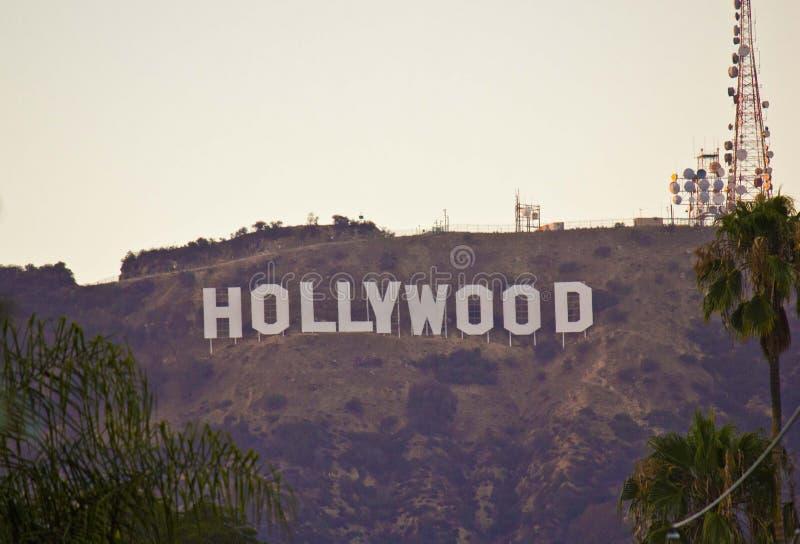 La muestra de Hollywood imagen de archivo libre de regalías