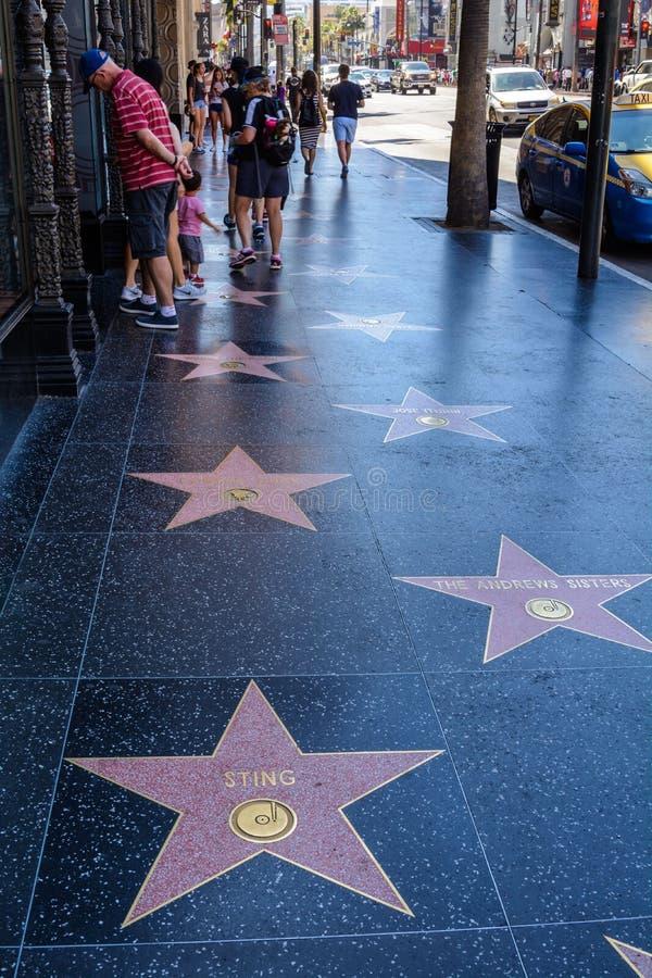 La muestra de Hollywood que pasa por alto Los Ángeles imagen de archivo libre de regalías