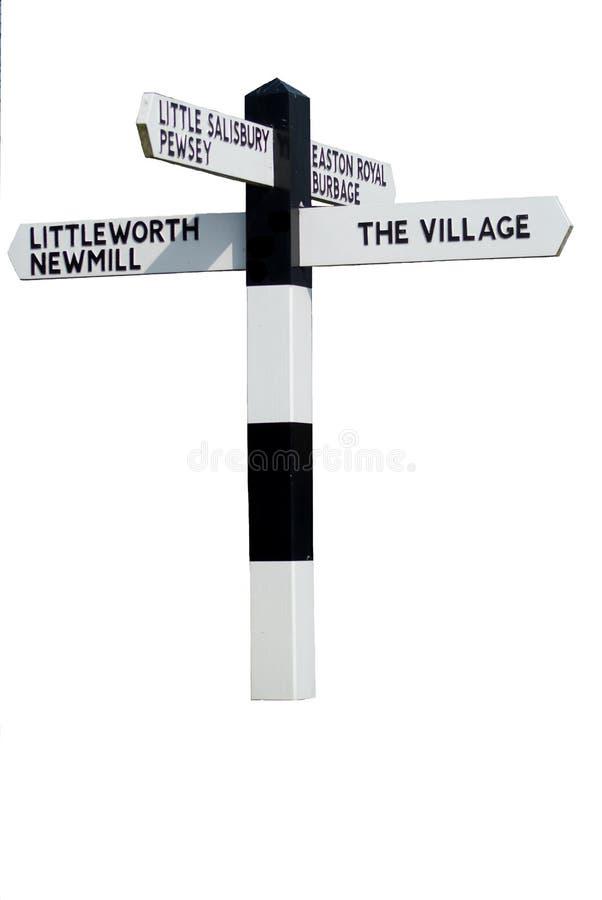 La muestra de la aldea imagen de archivo