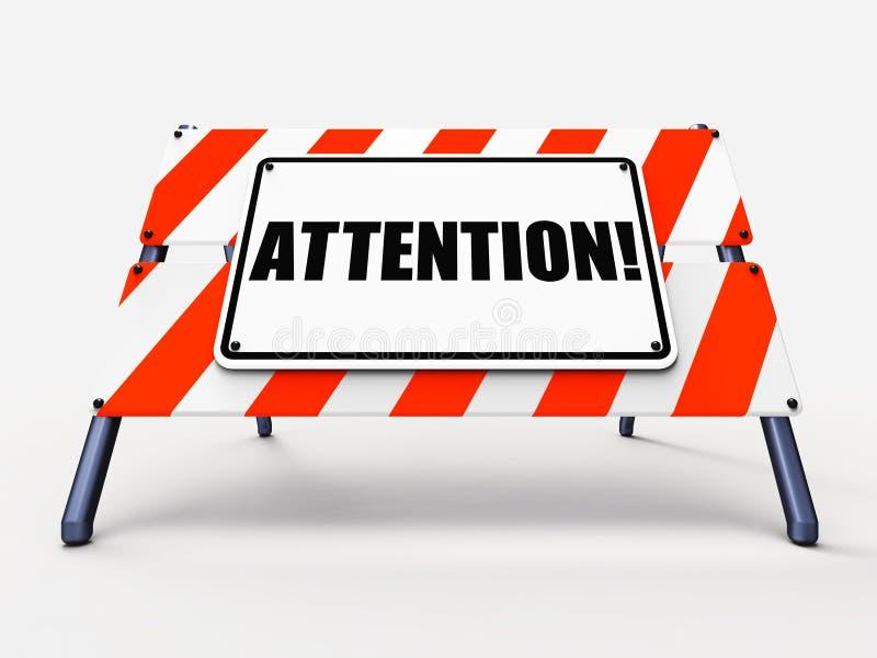 La Muestra De La Atención Muestra La Advertencia O Sea Aviso Alerta ...
