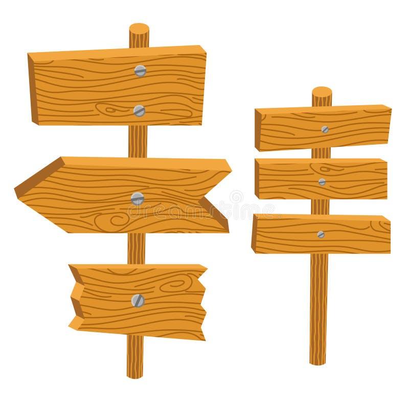 La muestra de madera sube al ejemplo del vector stock de ilustración