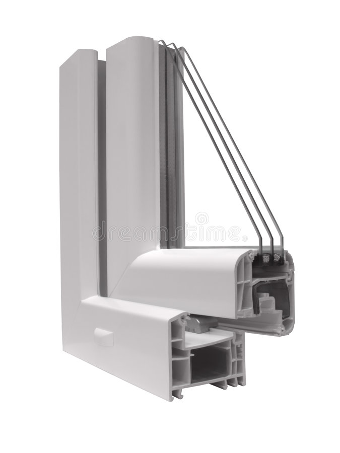 La muestra de PVC de una ventana imágenes de archivo libres de regalías