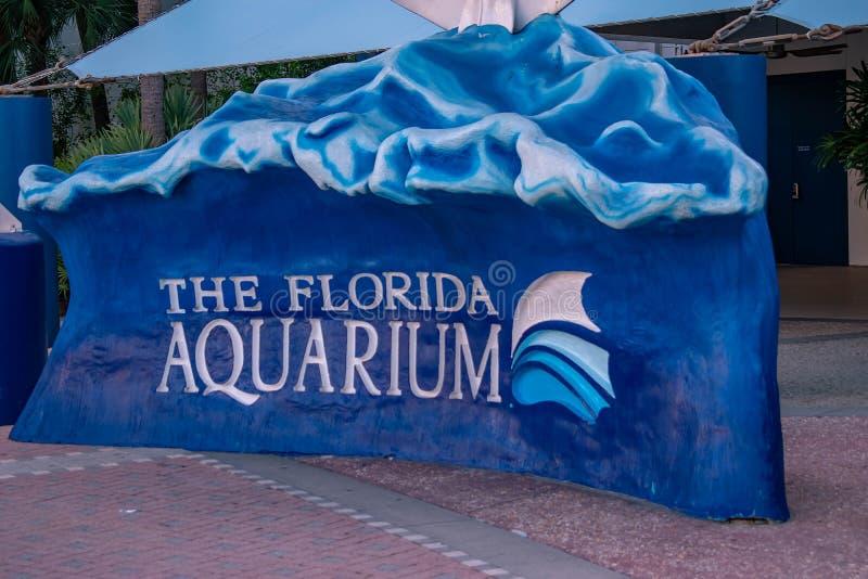 La muestra del acuario de la Florida imágenes de archivo libres de regalías
