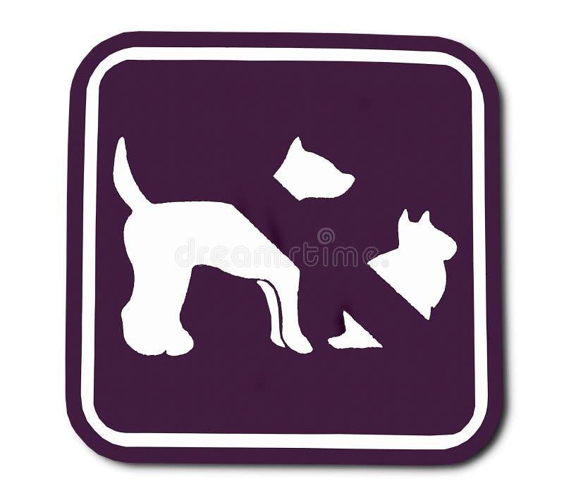 La muestra del animal doméstico prohibida