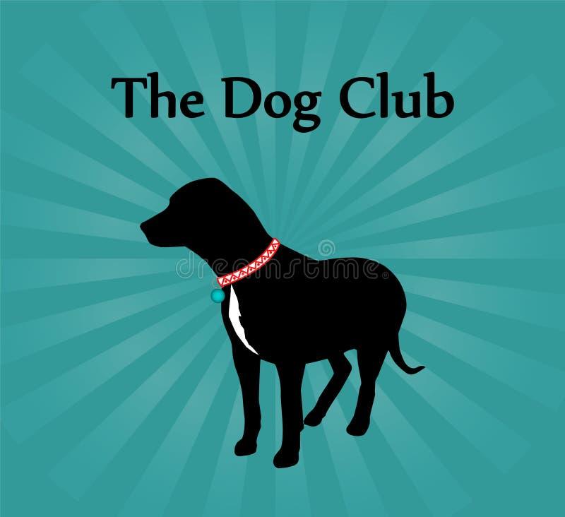 La muestra del club del perro ilustración del vector