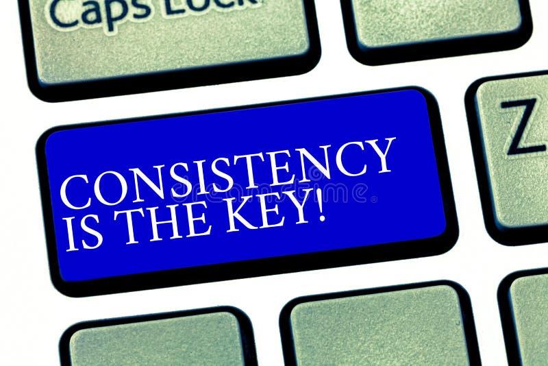 La muestra del texto que muestra consistencia es la llave Esmero completo de la foto conceptual a una tarea un hábito que forma e stock de ilustración