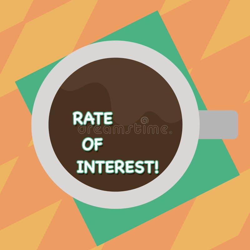 La muestra del texto que mostraba cantidad de la foto de Rate Of Interest Conceptual cargó, expresó como porcentaje de la vista p stock de ilustración