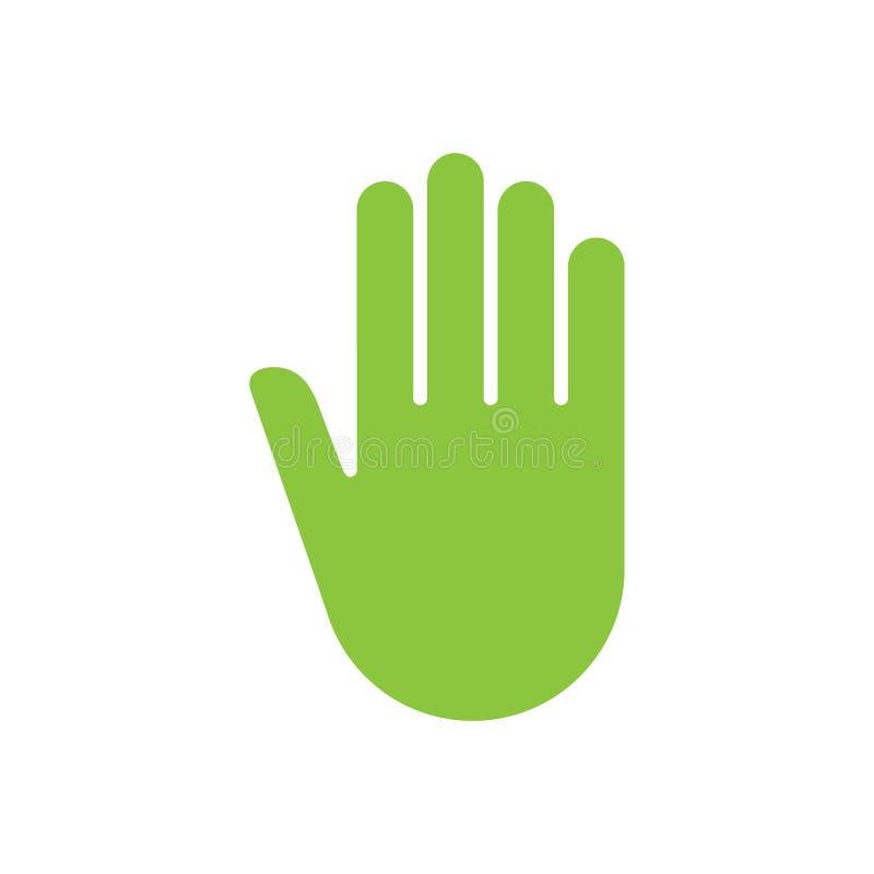 La muestra empuja el icono manualmente ilustración del vector