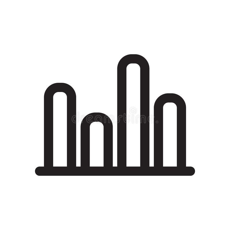 La muestra gráfica y el símbolo del vector del icono de las barras aislados en el fondo blanco, obstruye concepto gráfico del log libre illustration