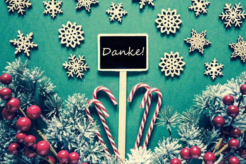 La muestra negra de la Navidad, luces, medios de Danke le agradece, mirada retra foto de archivo libre de regalías
