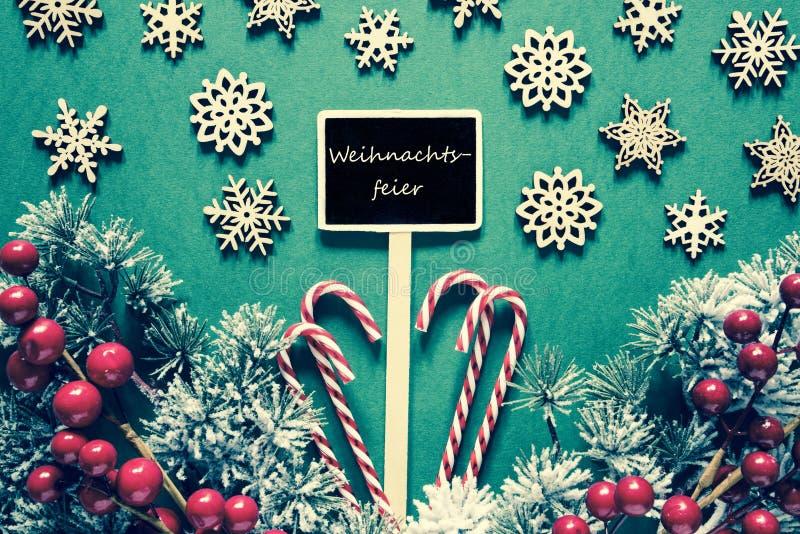 La muestra negra de la Navidad, luces, Weihnachtsfeier significa la fiesta de Navidad, mirada retra imagen de archivo libre de regalías