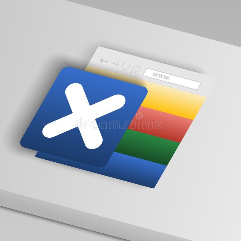 la muestra quita el icono De iconos del botón de la colección stock de ilustración