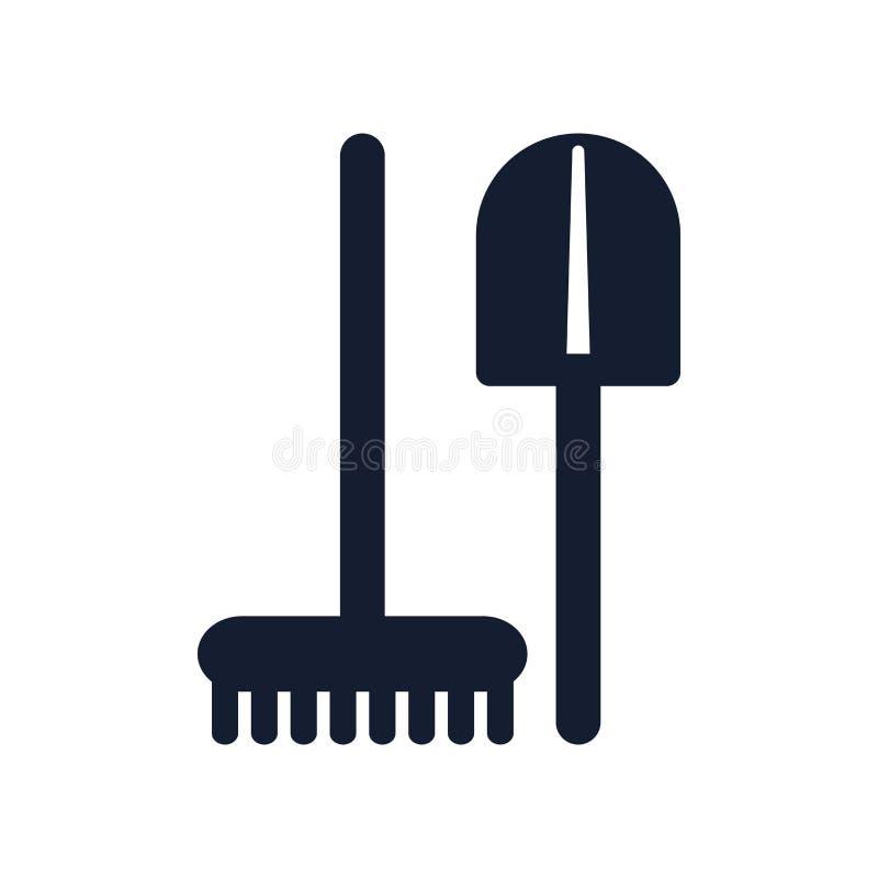La muestra y el símbolo del vector del icono de las herramientas aislados en el fondo blanco, equipa concepto del logotipo ilustración del vector