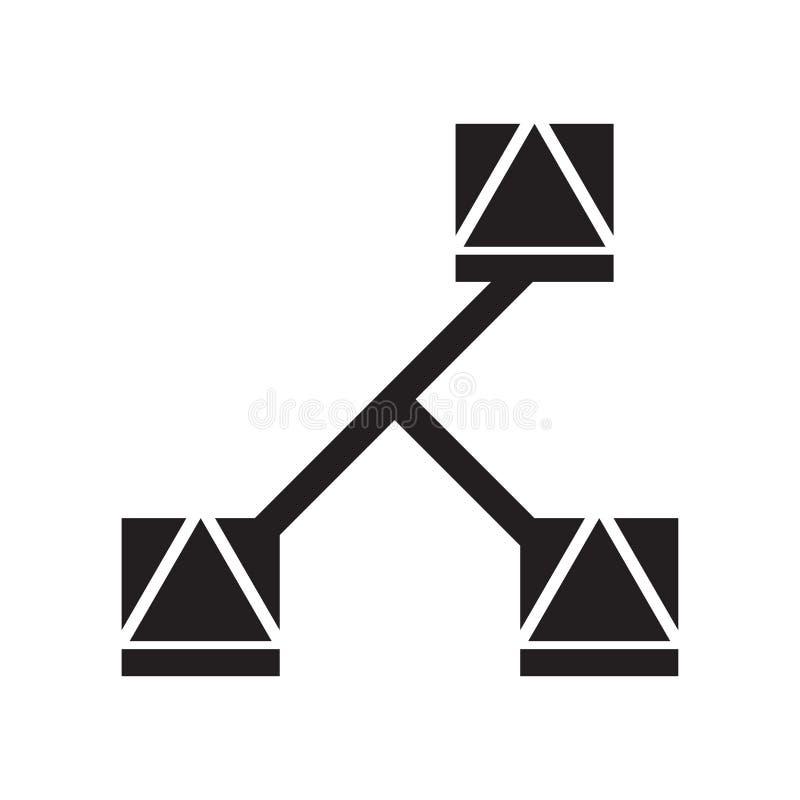 La muestra y el símbolo del vector del icono de los bordes aislados en el fondo blanco, afila concepto del logotipo ilustración del vector