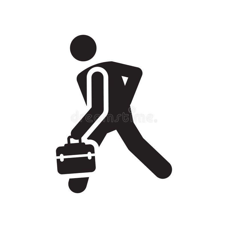 La muestra y el símbolo del vector del icono de la prisa aislados en el fondo blanco, se apresuran el icono del concepto del logo libre illustration