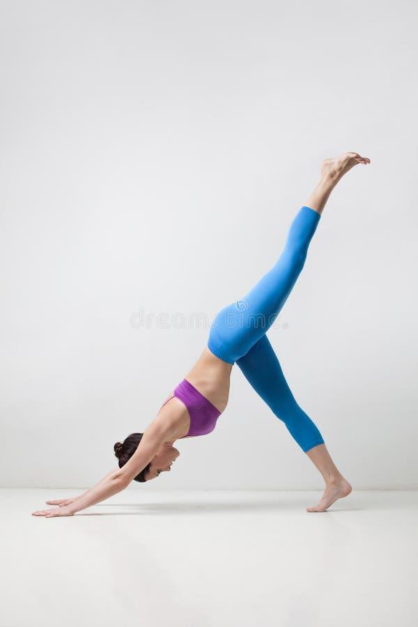 La mujer de la yoga fotografía de archivo libre de regalías