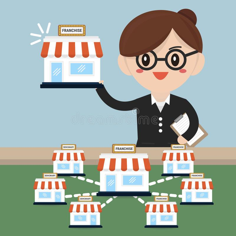 La mujer de negocios quiere ampliar su negocio, concepto de la licencia fotografía de archivo libre de regalías