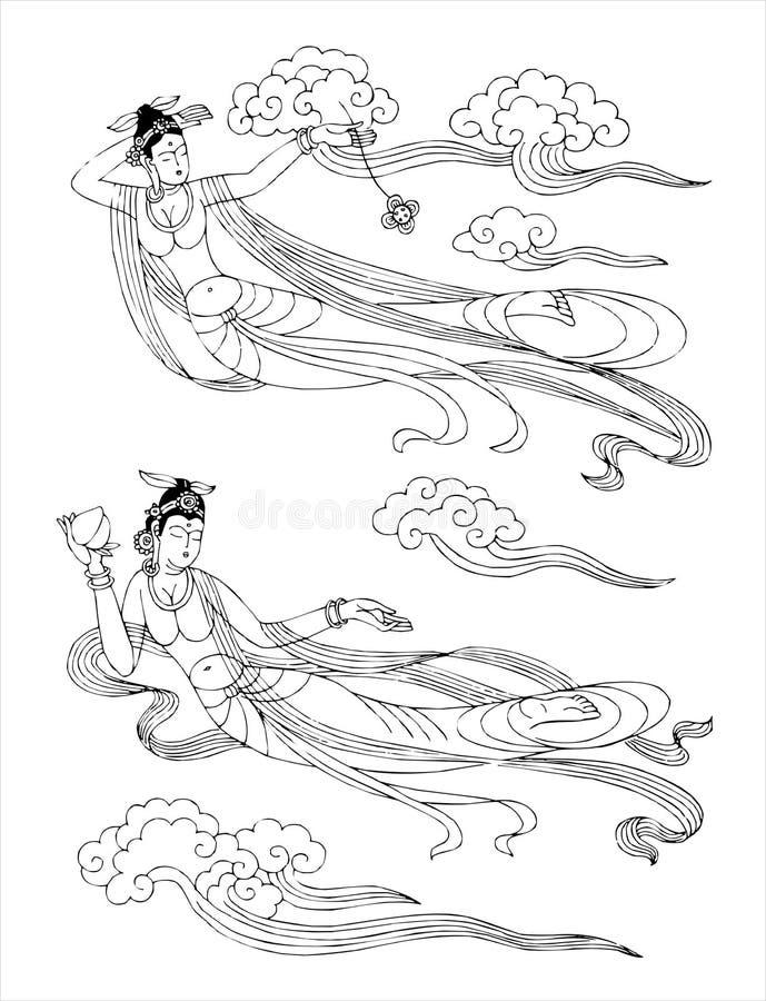 La mujer del mito ilustración del vector