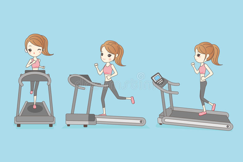 La mujer delgada está corriendo stock de ilustración
