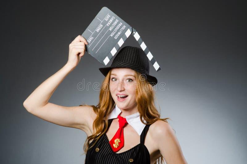 La mujer en concepto de la foto del vintage imagen de archivo libre de regalías