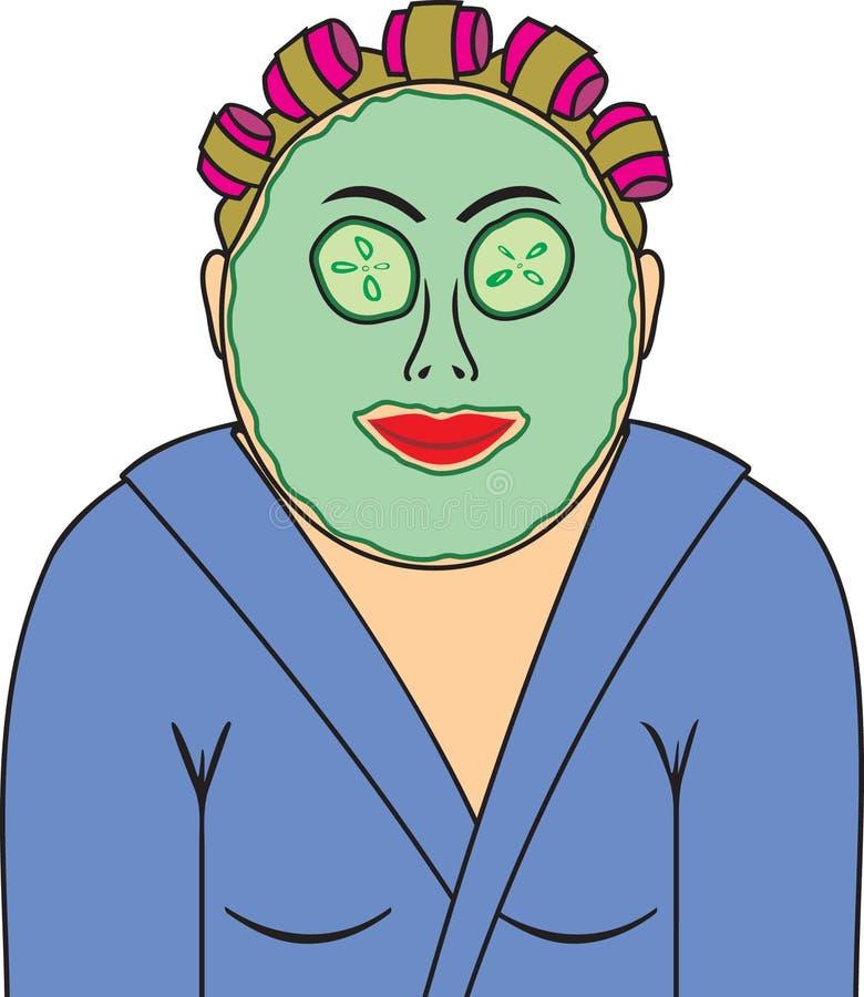 La mujer en la máscara ilustración del vector