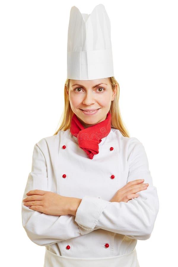 La mujer hace la educación para cocinar imagen de archivo