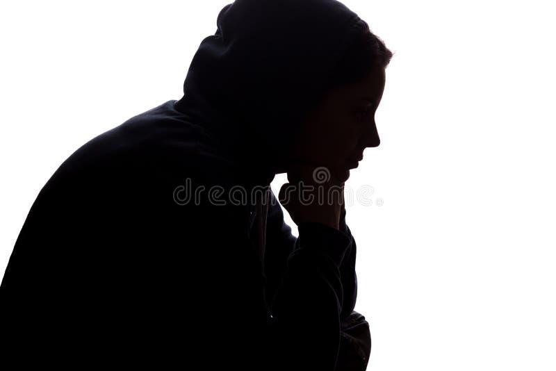 La mujer joven con pena cay? sus brazos foto de archivo libre de regalías