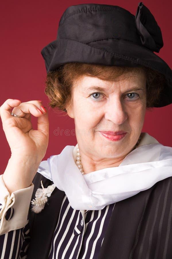La mujer mayor. foto de archivo libre de regalías
