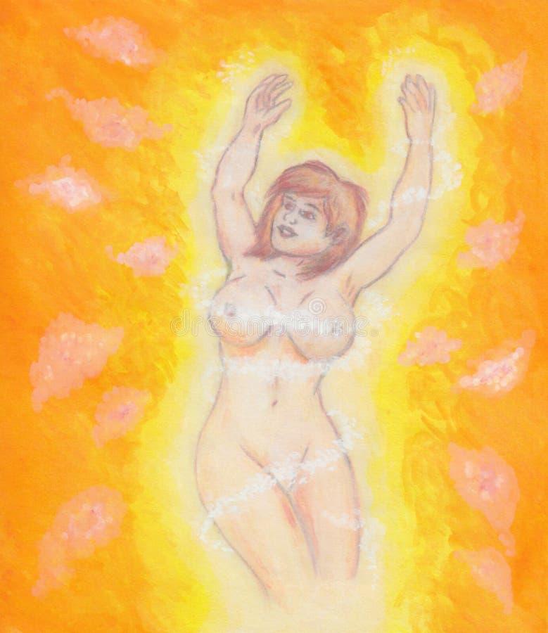 La mujer misteriosa aclaró 2017 libre illustration