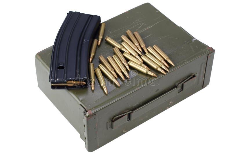 La munición puede con la munición fotografía de archivo