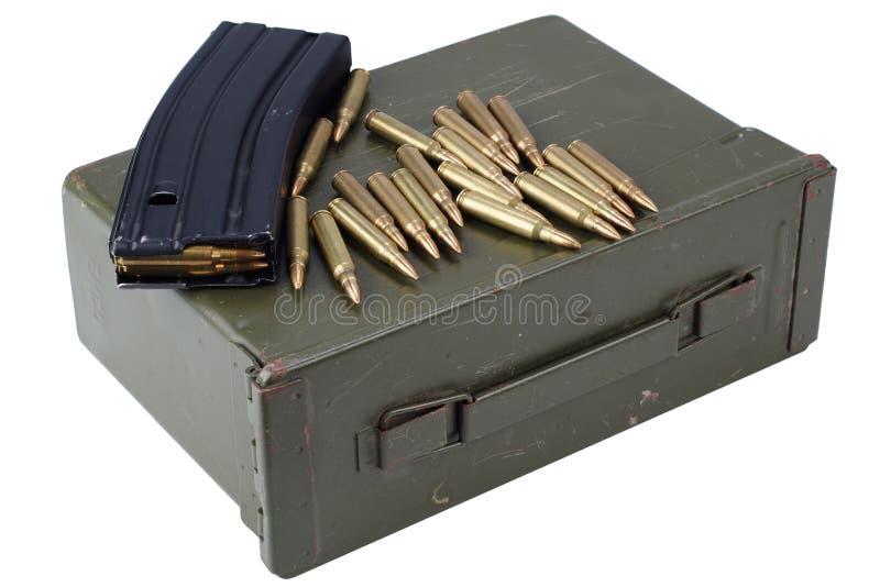 La munición puede con la munición foto de archivo libre de regalías
