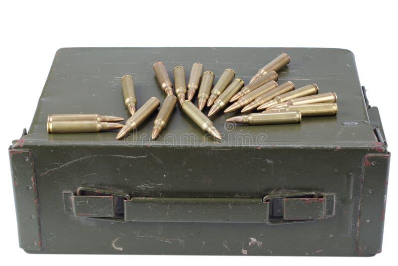 La munición puede con la munición imagen de archivo libre de regalías