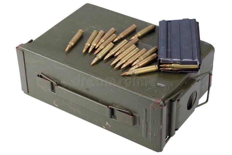 La munición puede con la munición imágenes de archivo libres de regalías