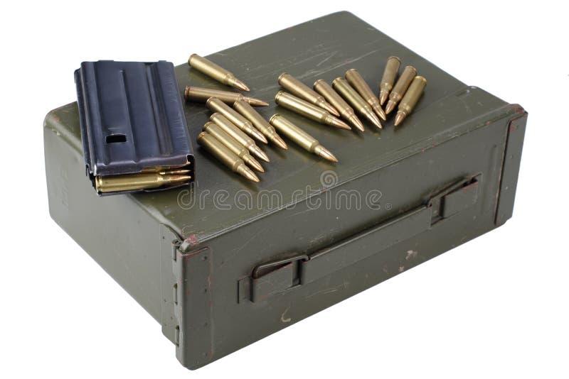 La munición puede con la munición fotos de archivo