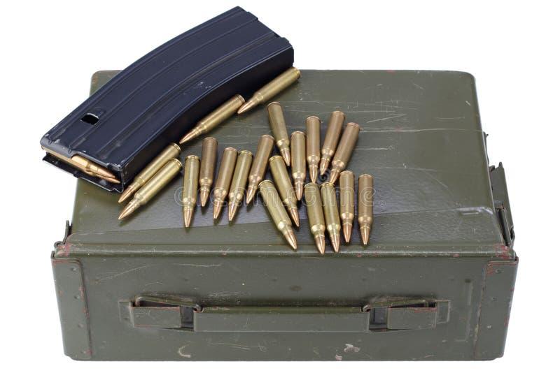 La munición puede con la munición fotos de archivo libres de regalías