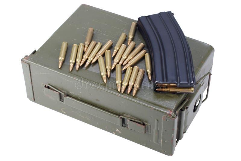 La munición puede con la munición fotografía de archivo libre de regalías