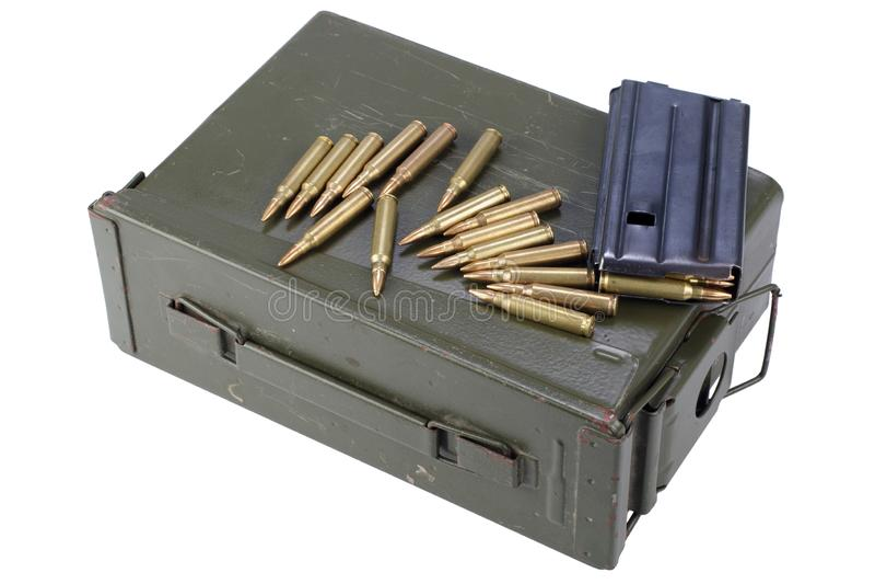 La munición puede con la munición imagenes de archivo