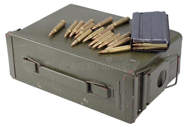La munición puede con la munición imagen de archivo
