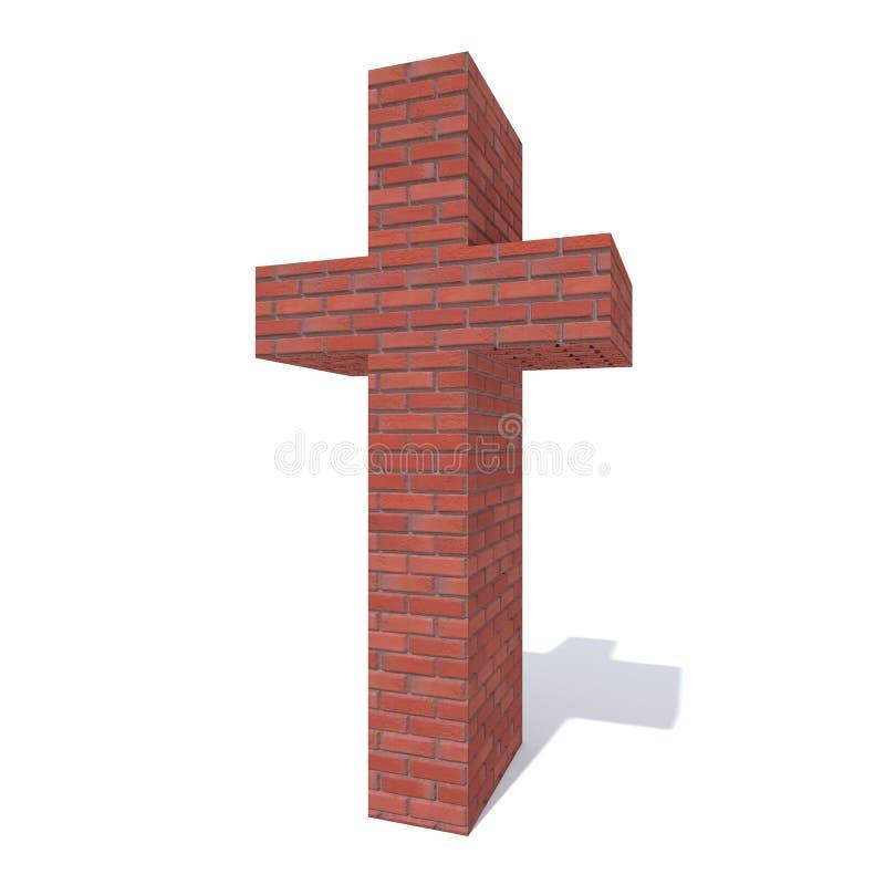 La muratura ruvida pesante rossa concettuale ha costruito la fonte o il tipo, pezzo dell'industria della costruzione in mattoni h illustrazione di stock